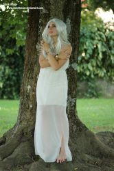 Stock woman in white dress 02 by clair0bscur