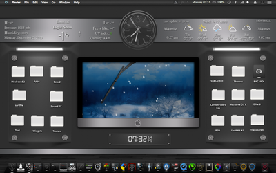 Macbook Ezra 2 Theme + Uniaw6 Widget by romeobacardi