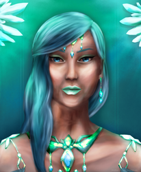 Queen Chrysanea Portrait by Dewdrops-of-Crystal