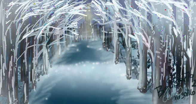 Winter Woods by Whyled-Card