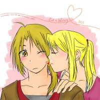 Kiss: Ed and Winry by takada-san04