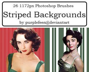 26 Striped Brushes by purplefeen by purplefeen