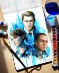 Detroit Become Human - Connor, Kara and Markus by Laovaan