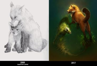 9 Years of Drawing by TamberElla