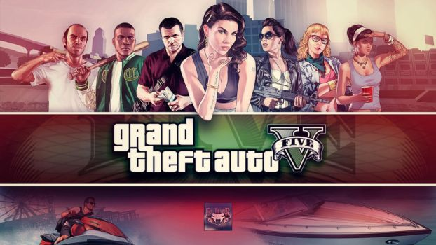 Grand Theft Auto V Team Wallpaper by eduard2009