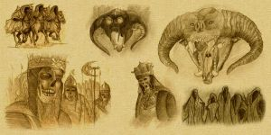 Lord of the Rings Sketches by Beckwee