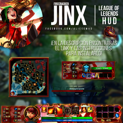 League of Legends HUD - Firecracker Jinx by AliceeMad