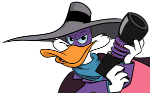 Darkwing Duck - headshot by Miss-Mal