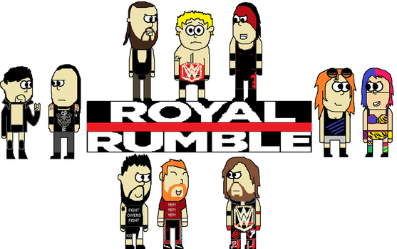 WWE Royal Rumble 2018 poster by firehea