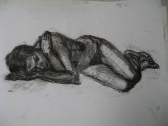 Nude model : Pencil study 12 by AlexanderPeev