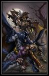 Batman vs scarecrow colors by aladecuervo