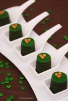 St Patrick's Day Chocolate and Minty Bites by theresahelmer