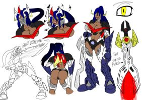 Great Mazinger made girl. by BlueStrikerBomber