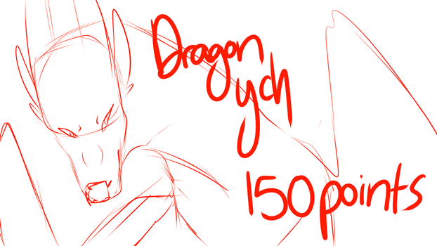 Skeptical Dragon ych ( 2 SLOTS OPEN) 150 POINTS by Calisii