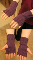 Knitted Hand Mitts by LunarJadeStyles