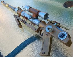 Steampunk Sniper Rifle by firebladecomics