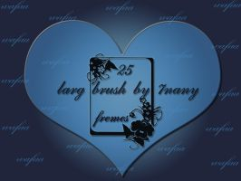 25 fremes larg brush by 7nany