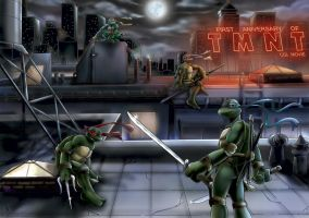 1st aniversary of TMNT by alisa006