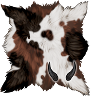Chimeric Goat Pelt + Small Horns by TokoTime