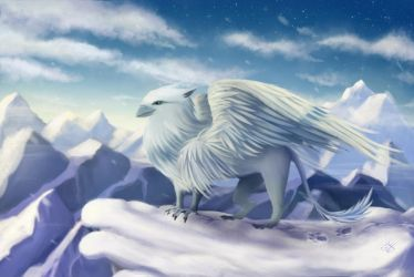 Snow griffin by fakeplasticcats