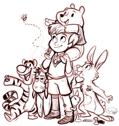 Christopher Robin and Friends by sharkie19