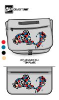 Cubism-Messenger-Bag- The Fart by pikkupr