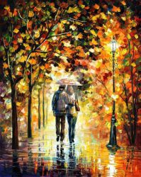Autumn Walk by Leonid Afremov by Leonidafremov