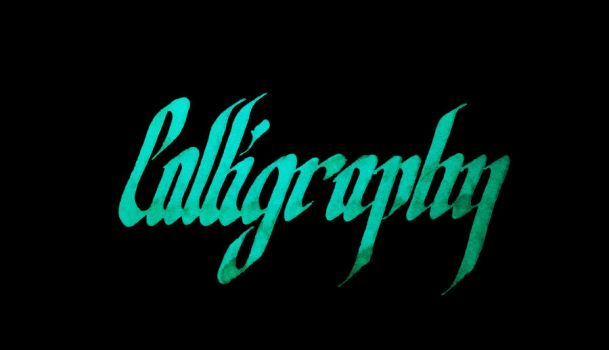 Calligraphy 2018 A by Feri-kun