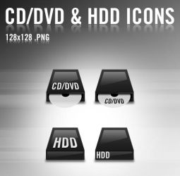 CD-DVD and HDD icons by bezem049