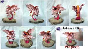 Pokemon #18: Pidgeot - Sculpture by Escaron