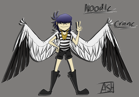 Noodle Winged AU Ref by Ashesfordayz