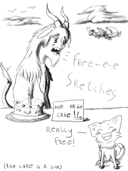 Free Sketches :D by zebarnabe
