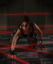 Tomb Raider: The Louvre lasers by BMFreed