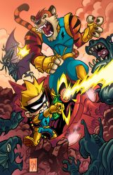 Spaceman Spiff and Mutant Stripes by cruzarte