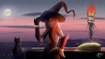 Witch + Speedpaint by abysan