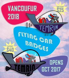 VF2018 - Flying Car Badges - Opens Oct 2017! by Temrin
