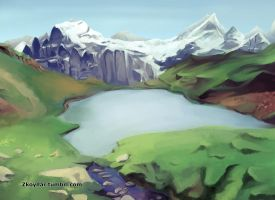 Study- Mountain by zkoyllar
