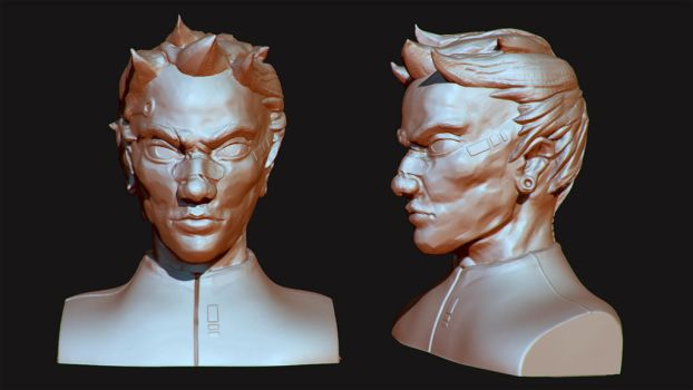 Zbrush Head Sculpt by SaephireArt
