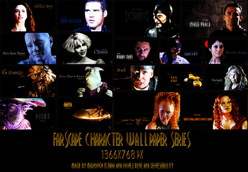 Farscape Character Wallpaper Series by MidknightStarr