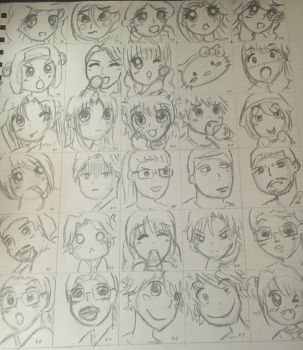 Final:100 Characters Part 3 by YuukiCross5
