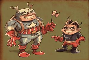 Lil Cap N Tiny Bucky by jusscope