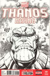 Thanos Rising - Sketch Cover by josesartcave