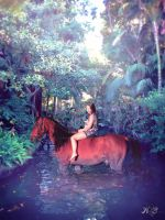 Wading Through The Jungle by hannabananapm