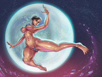 Chun-li - Streetfighter - commission [SFW ver.] by cutesexyrobutts