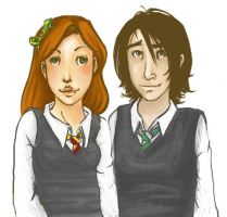 Lily and Severus by sorrow-poet