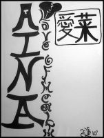 Aina: Calligraphy Commission by LyraAlluse