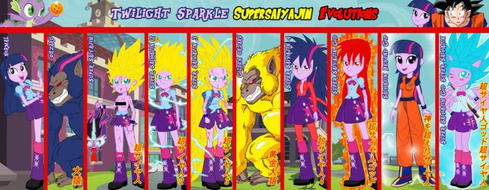 Twilight Sparkle Supersaiyajin Evolutions EG Ver. by gonzalossj3