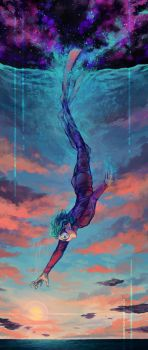 Diving into the Sky by Kampfkewob