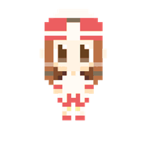 Pixel White Mage Girl by ValChaon