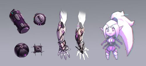 Chibi AI and Gear Concepts Finished by Karkull